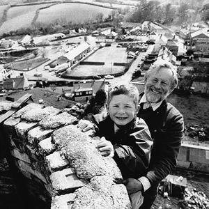 David Dawson (4th Generation) & Ben Dawson aged 5, the 6th generation in Cornwall in 1995.